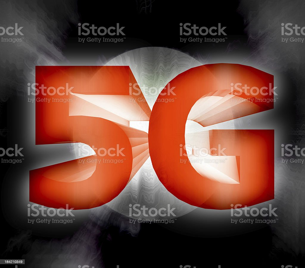 5G network symbol royalty-free stock photo
