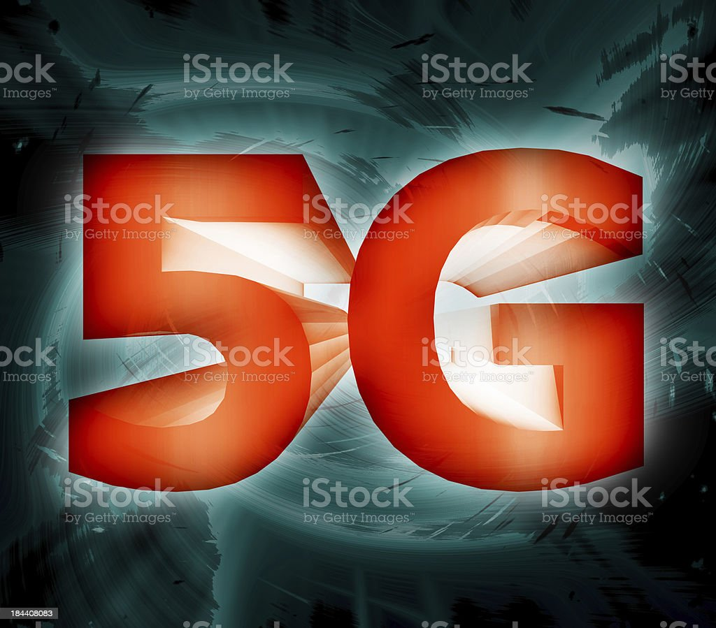 5G network symbol royalty-free stock photo