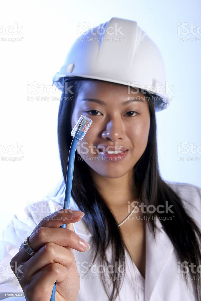 Network Technician royalty-free stock photo