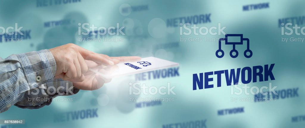 Network. Technology Concept stock photo