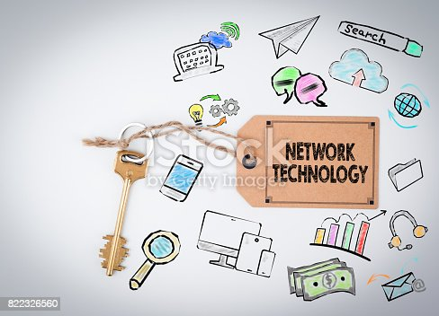 istock Network Technology. Key on a white background 822326560