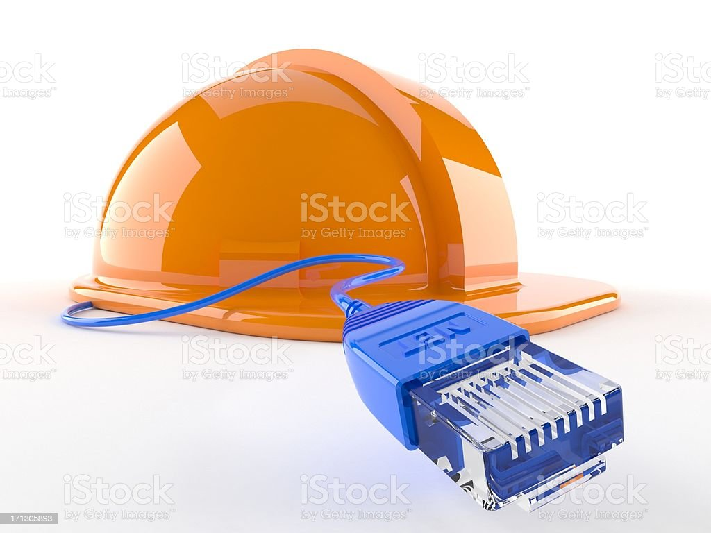 Network under construction royalty-free stock photo