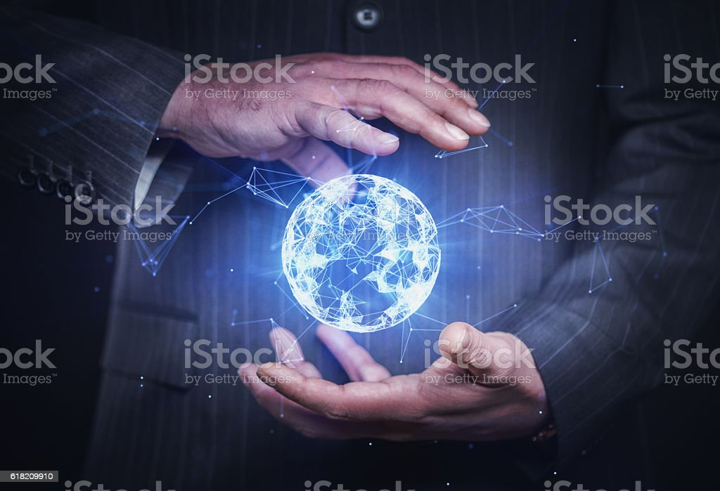 Network under control stock photo