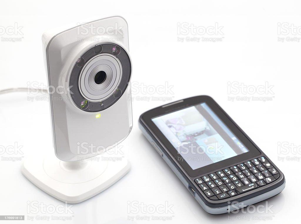 Network webcam Network webcam Communication Stock Photo