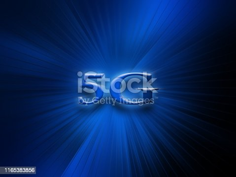 istock 5G network wireless system and internet connection background. 5G symbol communication network. Business technology concept banner 1165383856