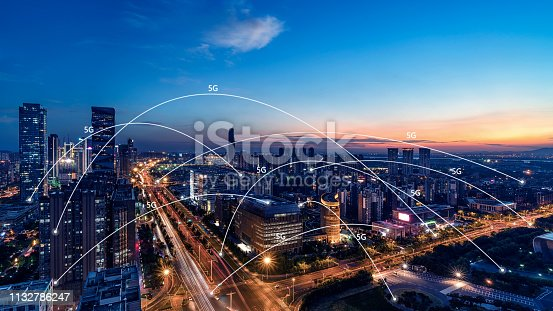 istock 5G network wireless systems and internet of things with modern city skyline 1132786247