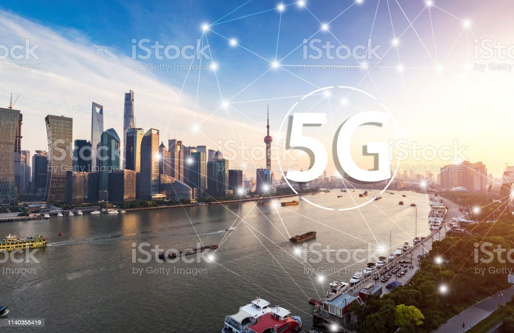 5g Network Wireless Systems And Internet Of Things With Modern City