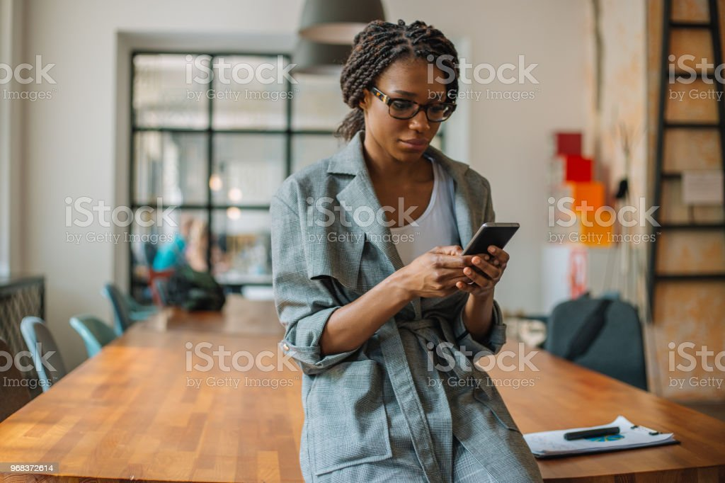 Networking at the office stock photo