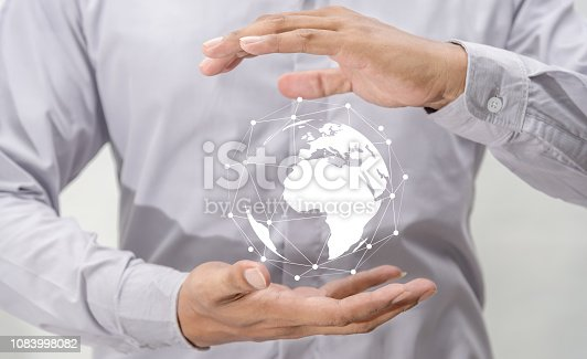 istock Networking people global business concept 1083998082