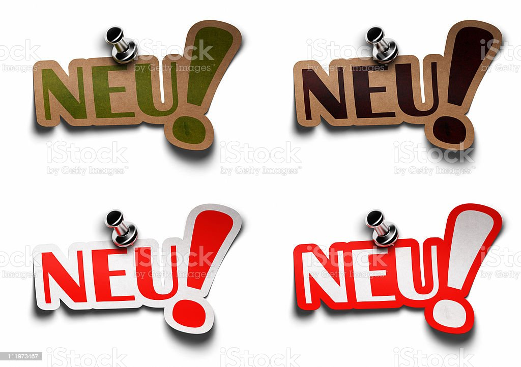 Neu, German word for new royalty-free stock photo