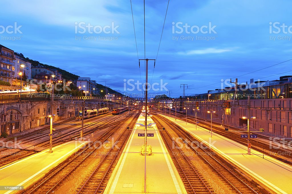 Neuchatel railway station stock photo