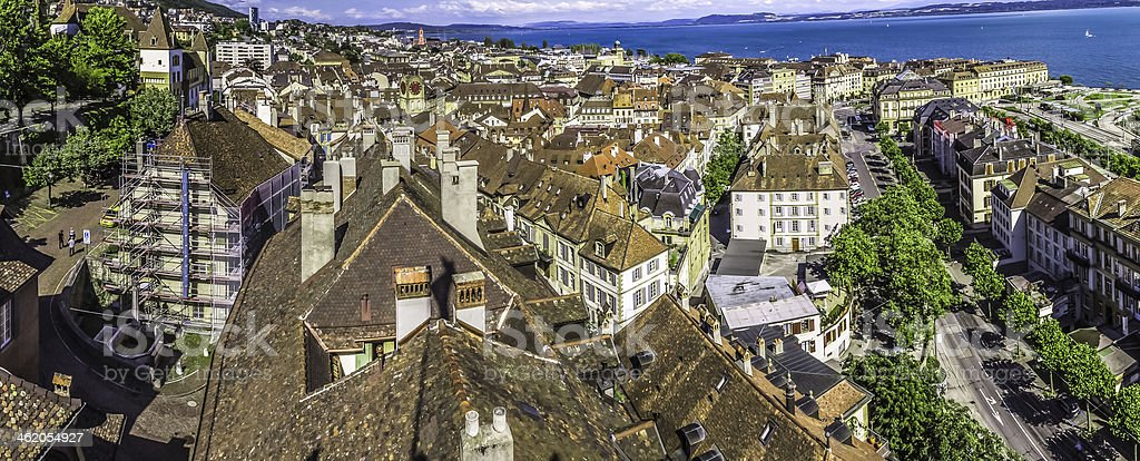 Neuchatel town stock photo