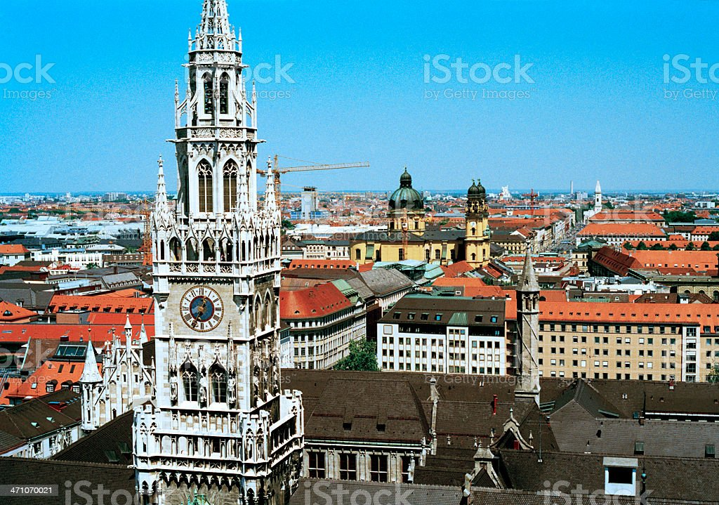 Neues Rathaus, Munich royalty-free stock photo
