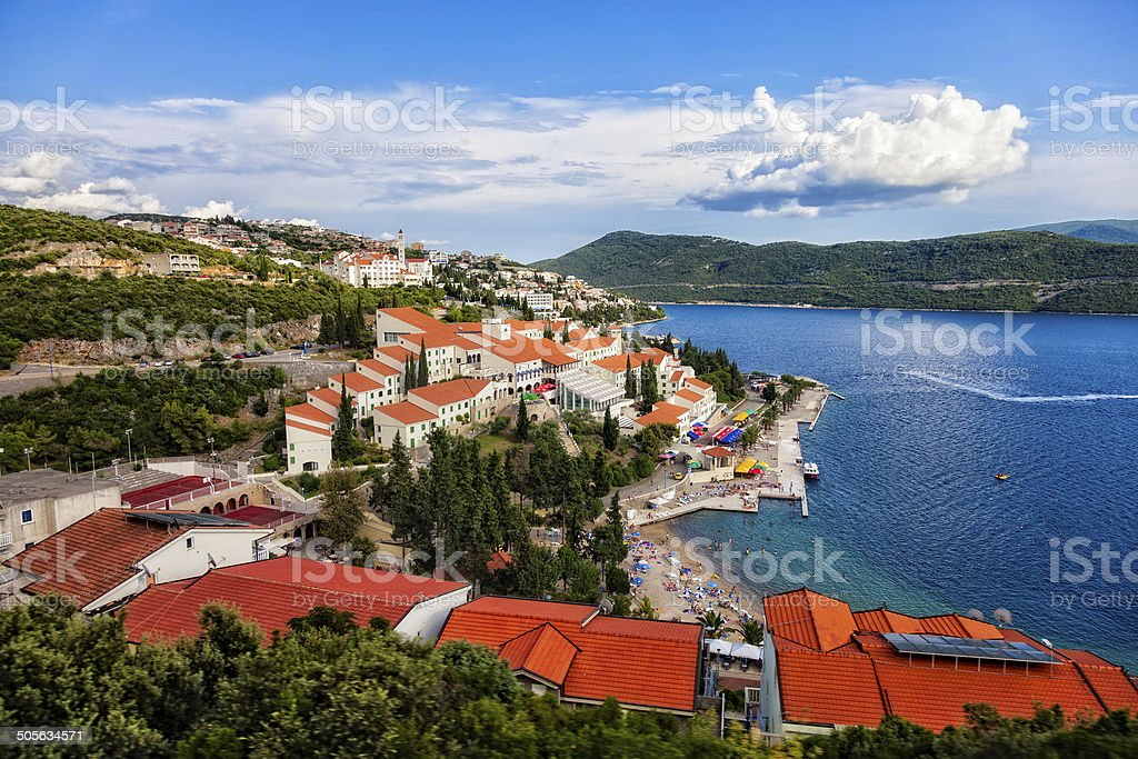 Neum city stock photo