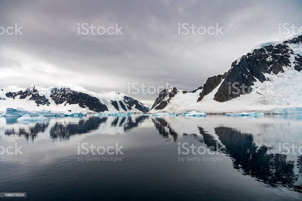 Neumeyer Channel Antarctica Reflections - Royalty-free Adventure Stock Photo