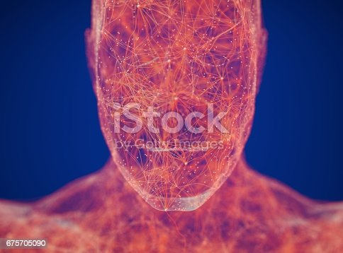 Neural connections concept. Human body neurology, nervous system. 3D illustrationNeural connections concept. Human body neurology, nervous system. 3D illustration