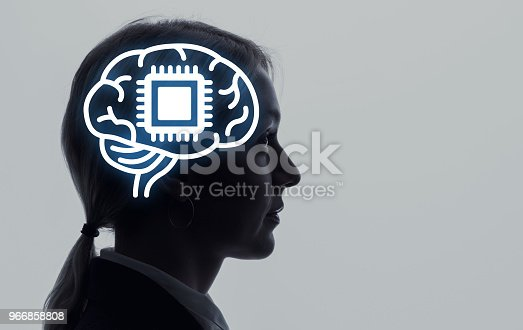 990107166 istock photo Neural implant concept. 966858808