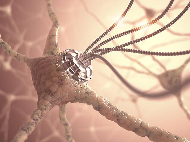 神経ナノテクノロジー ストックフォト