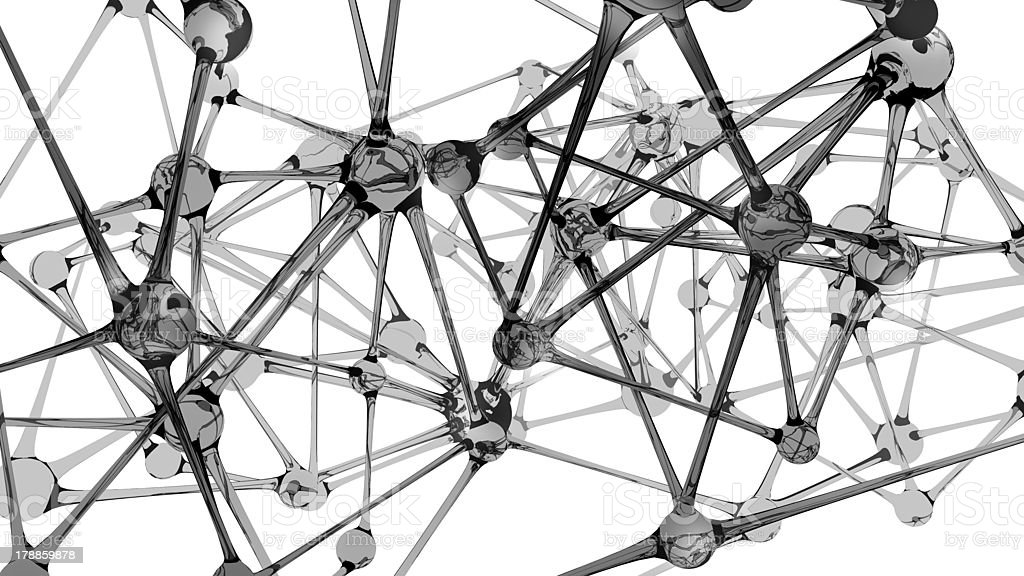 Neural network abstract on white stock photo