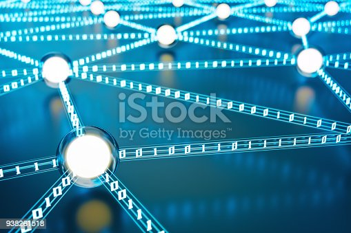istock Neural Network, Data Exchange And Technology Background 938261518