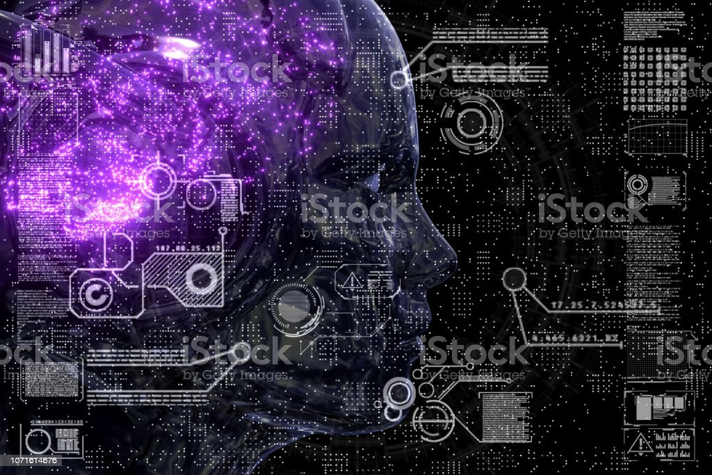 Neural Networks Circuitry Close Up stock photo