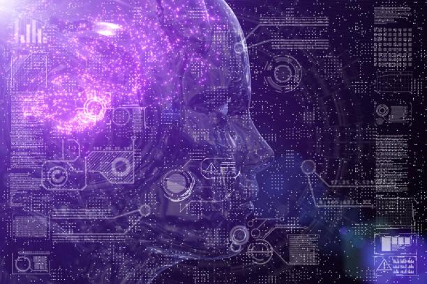 neuronale netze-schaltung hautnah - lernfortschrittskontrolle stock-fotos und bilder