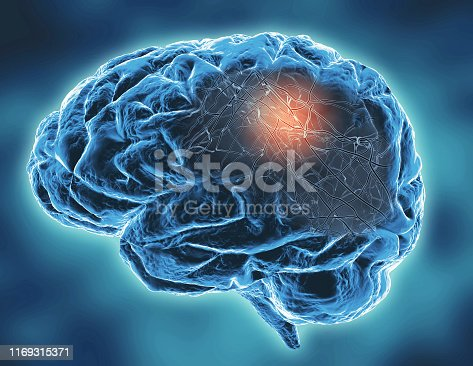 istock Neurodegenerative Parkinson's, Alzheimer's diseases, memory problems concept illustration. 1169315371