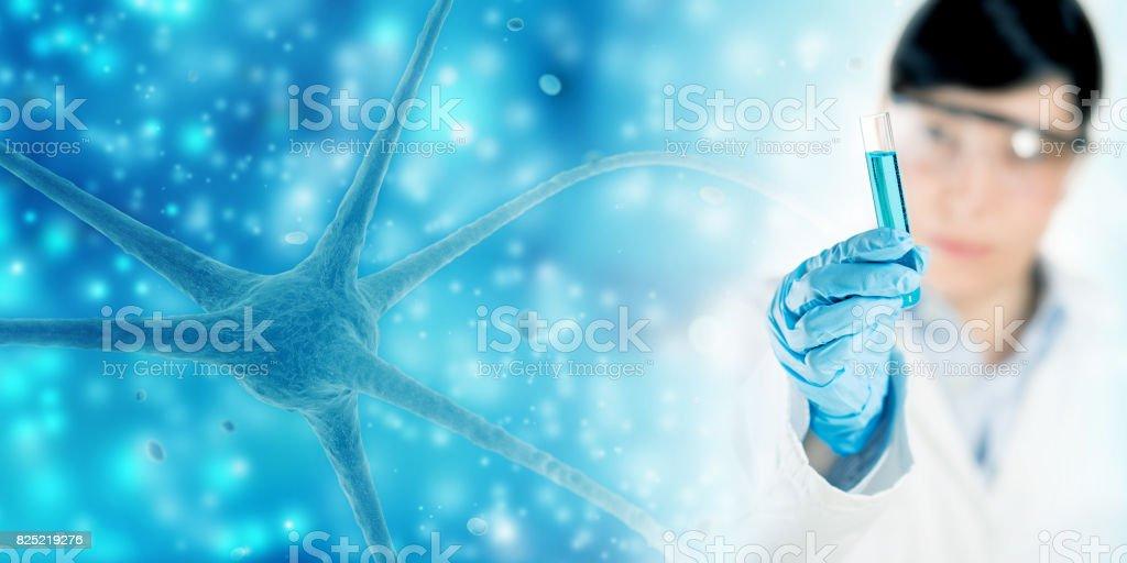 neurology research concept stock photo