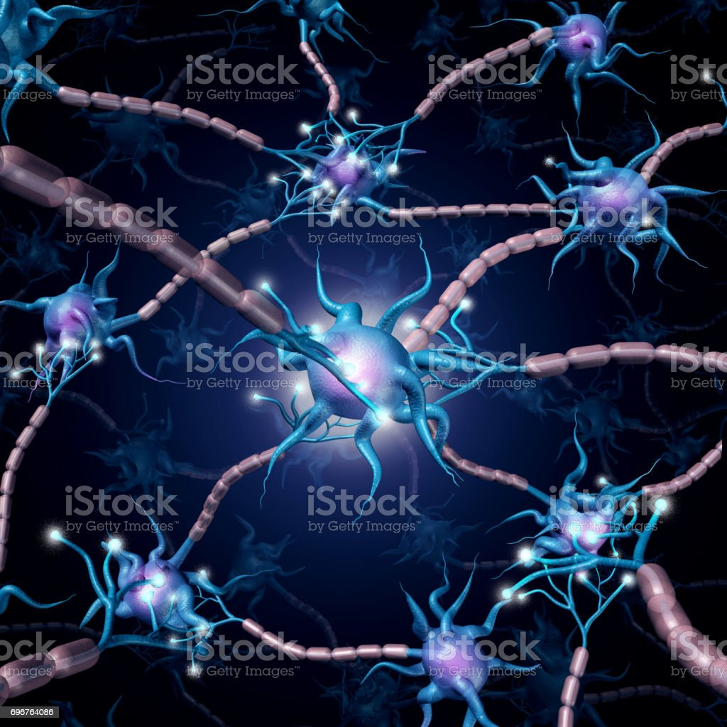 Neuron Active Cells stock photo