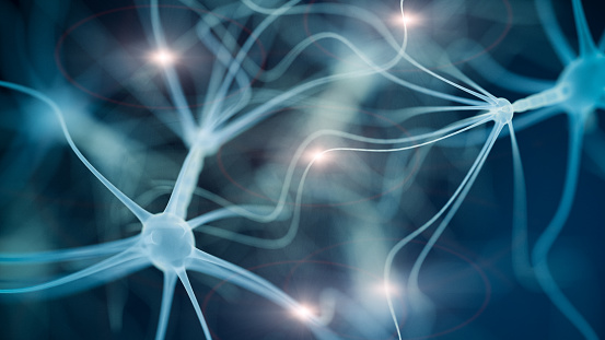 istock Neuron cell network 622767436