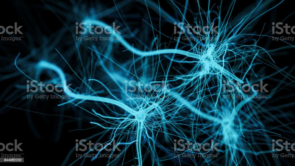 Neuron cell network zbiór zdjęć royalty-free