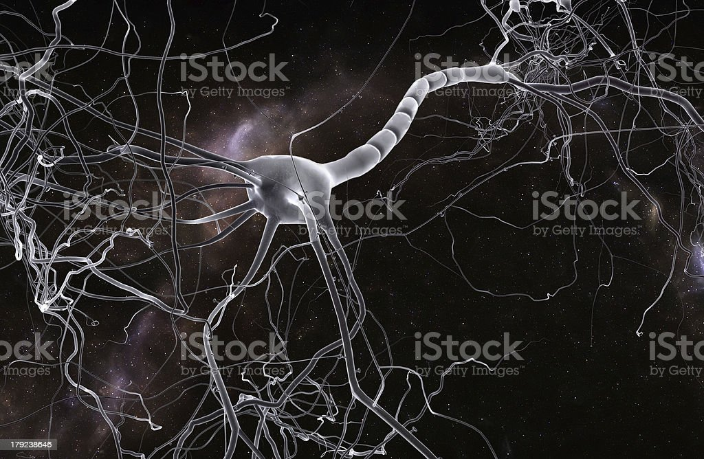neuron cell royalty-free stock photo