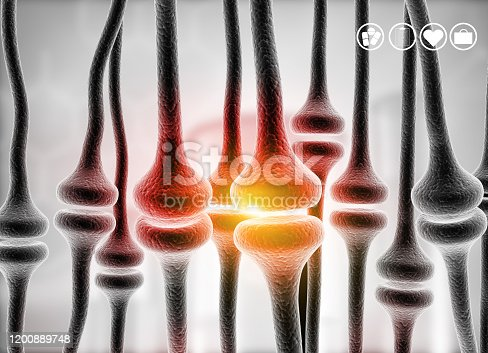 992017166 istock photo Neuron cells background 1200889748