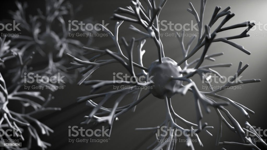 Neuron cells network stock photo