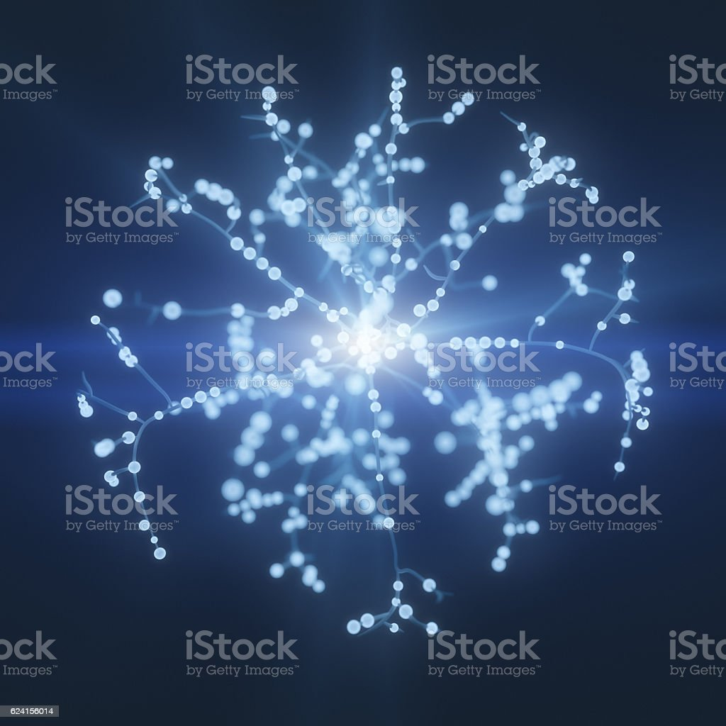 Neuron cells tree network stock photo