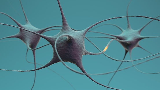 istock Neuron cluster signal transfer inside brain 1185540875