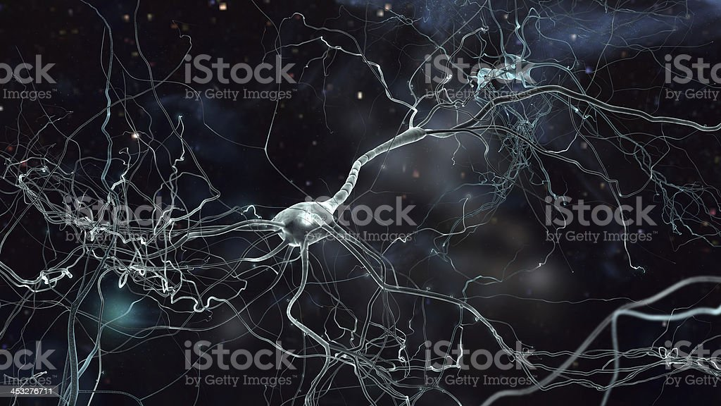neuron space royalty-free stock photo