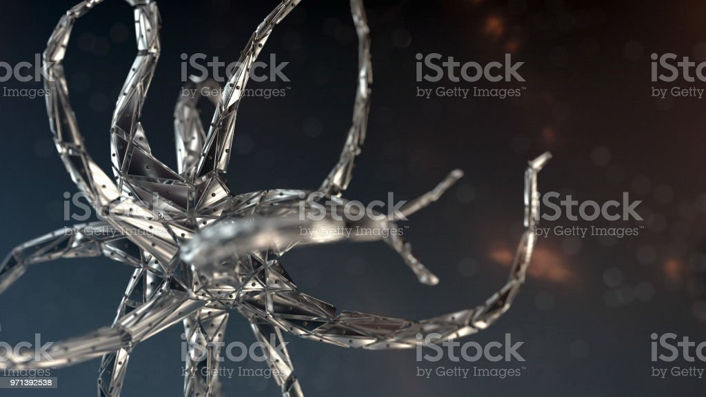 Neuron system nanobot stock photo