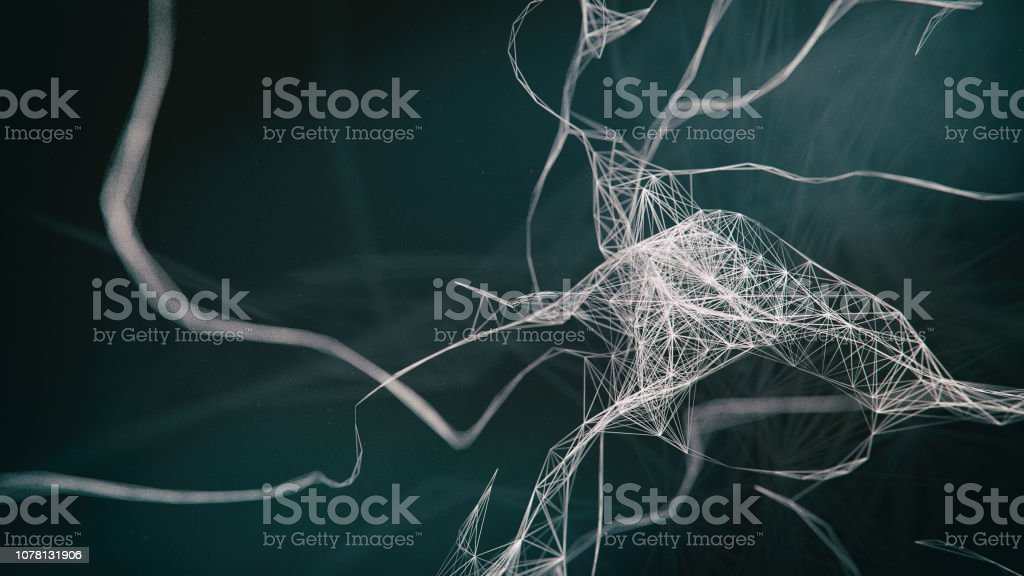 AI Neuron system stock photo