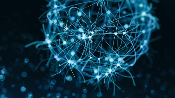 Neuron system stock photo