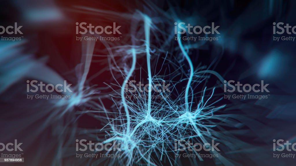Nöron sistemi stok fotoğrafı