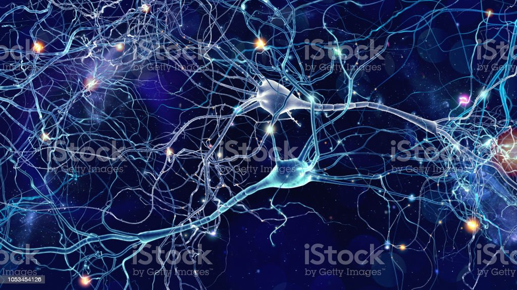 Neurons cells concept stock photo