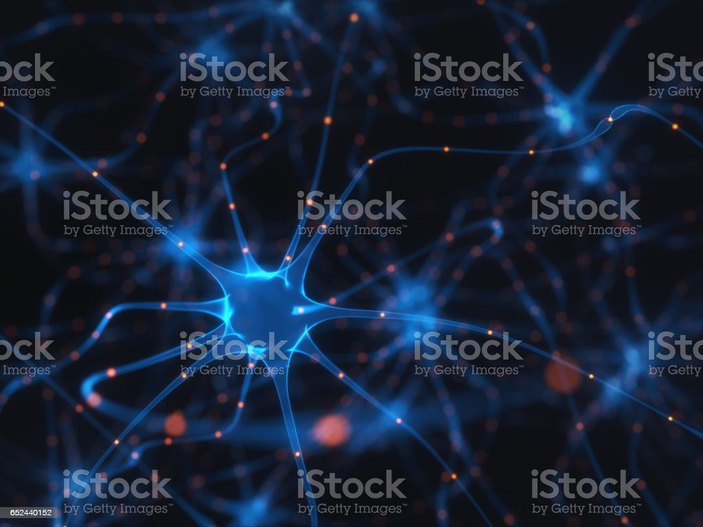 Neurons Electrical Pulses - Royalty-free Artificial Stock Photo