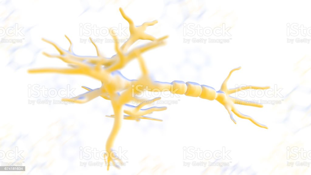 Neurons network stock photo