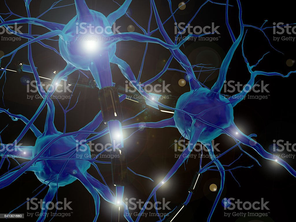 Neurons - Neural networks stock photo