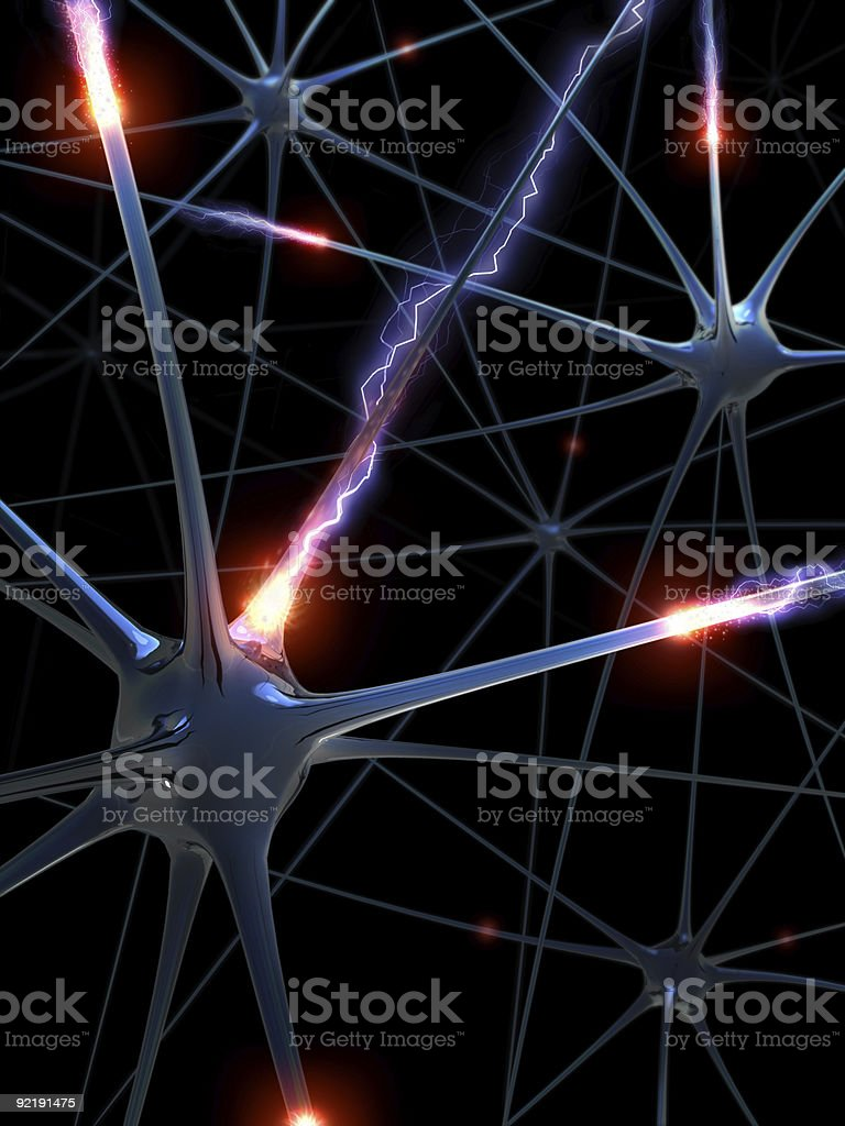 Neurons (The Brainstorm) royalty-free stock photo