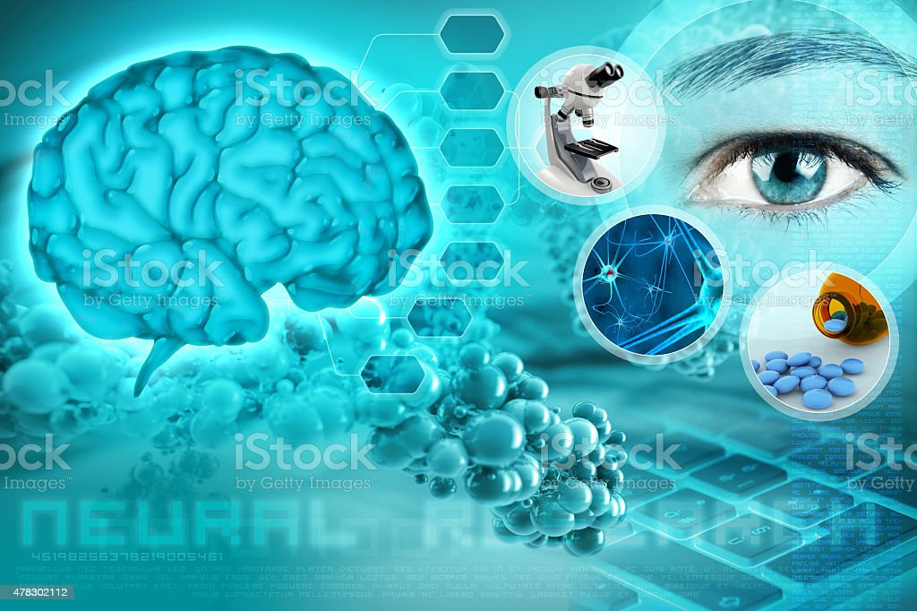 neuroscience concept stock photo