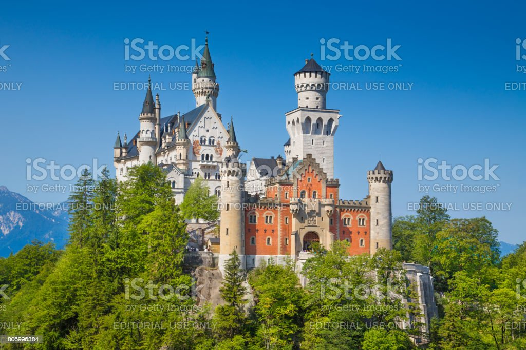 Neuschwanstein Castle, Bavaria, Germany stock photo