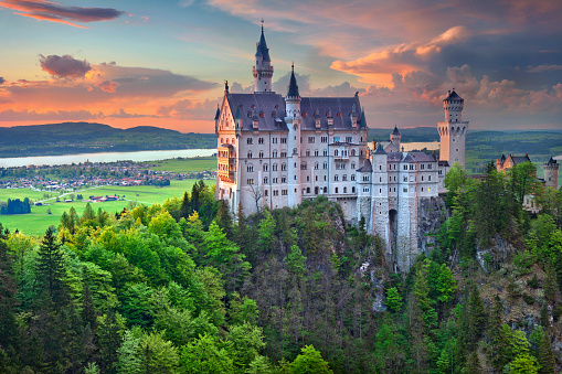 Neuschwanstein Castle Germany Stock Photo - Download Image Now