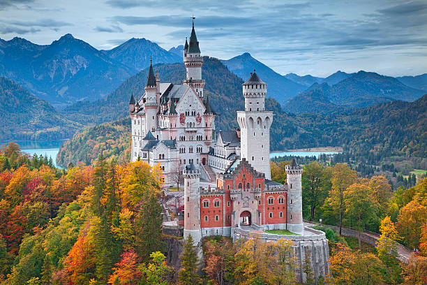 Castello di Neuschwanstein in Germania. - foto stock